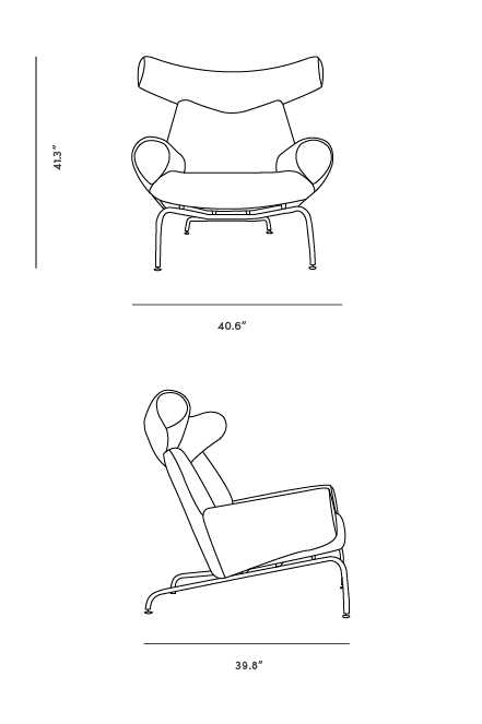 Dimensions for Ox Chair