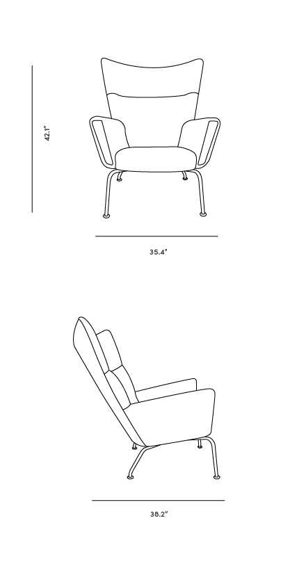 Dimensions for Wing Chair